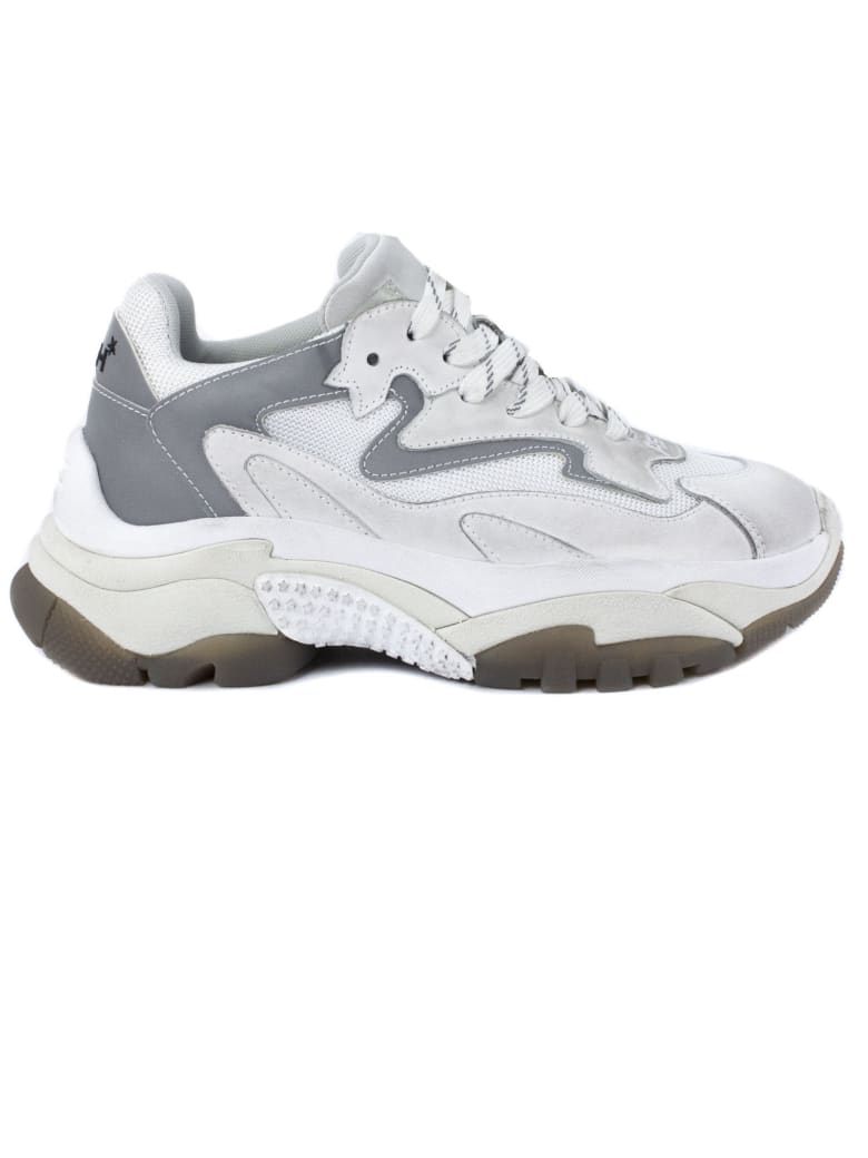 Ash White And Grey Addict Sneakers - Silver