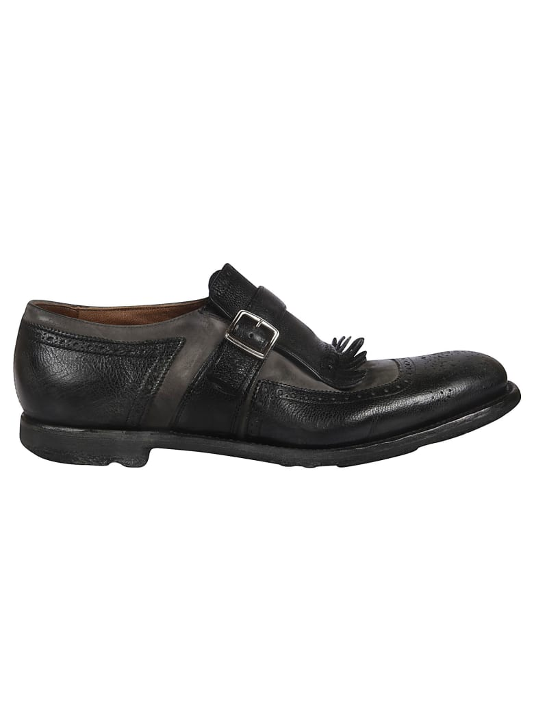 Church's Fringed Monk Shoes - black