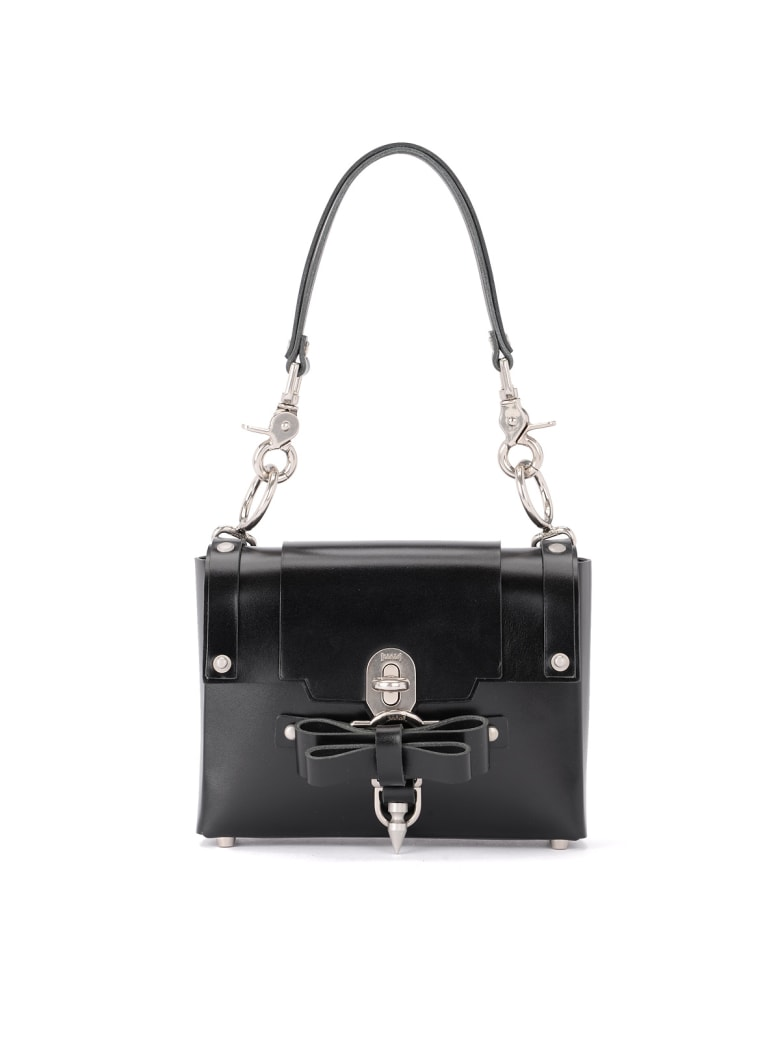 Niels Peeraer Bow Buckle Small Black Leather Bag - NERO
