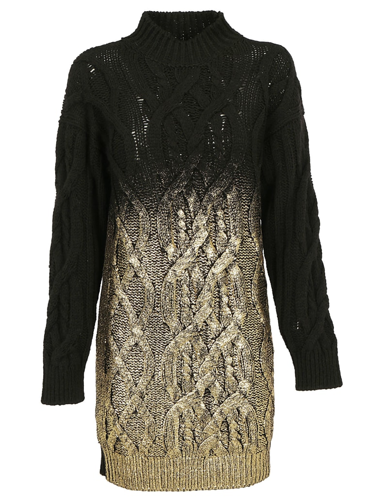 Pinko Estone Dress - Nero/oro