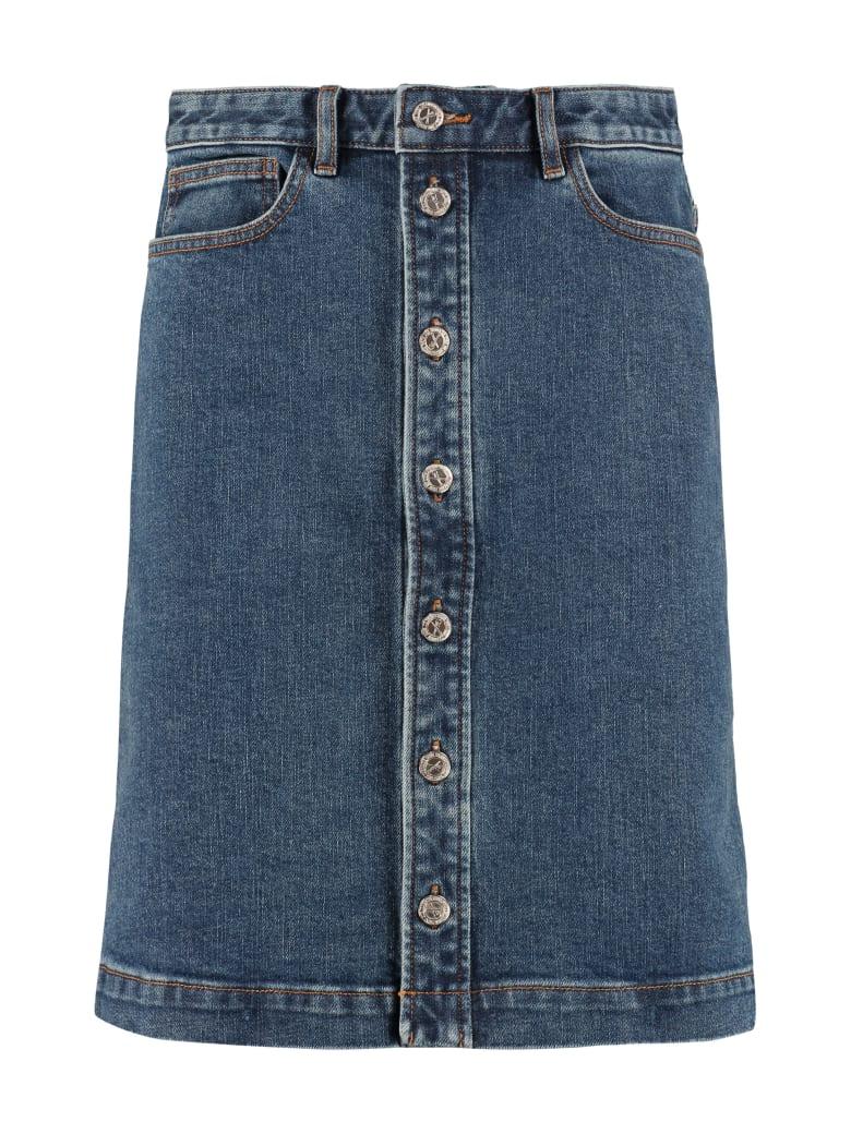 A.P.C. Therese Denim Skirt - Denim
