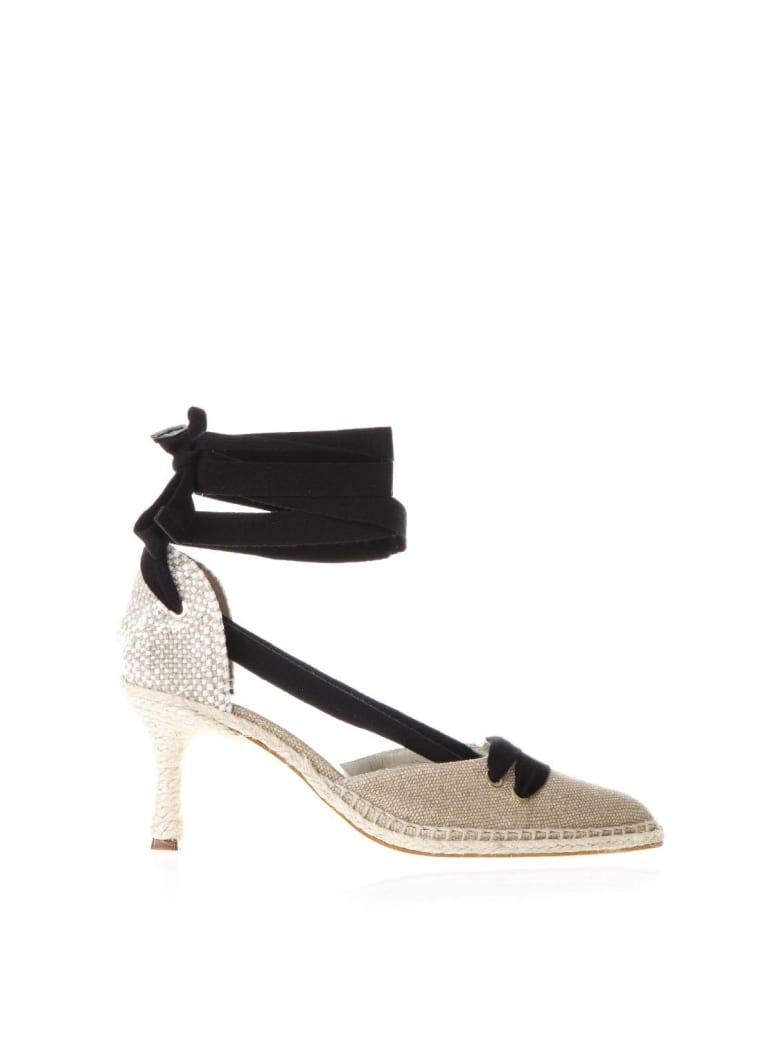 Castañer by Manolo Blahnik Sand Satin And Juta Espadrilles With Heels - Arena