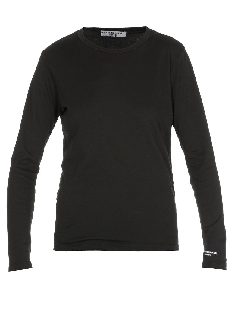 Katharine Hamnett Kitty Small Logo T-shirt - BLACK