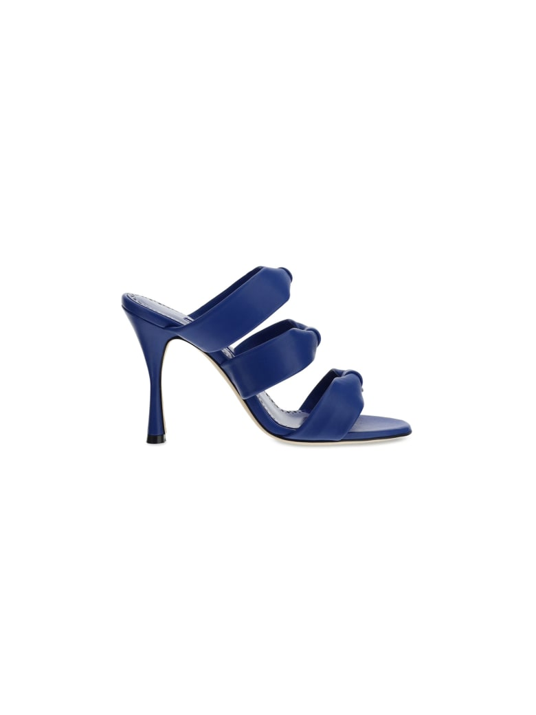 Manolo Blahnik Gyrica Sandals - Blue