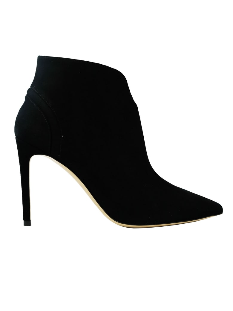 Ninalilou Suede Ankle Boots - BLACK