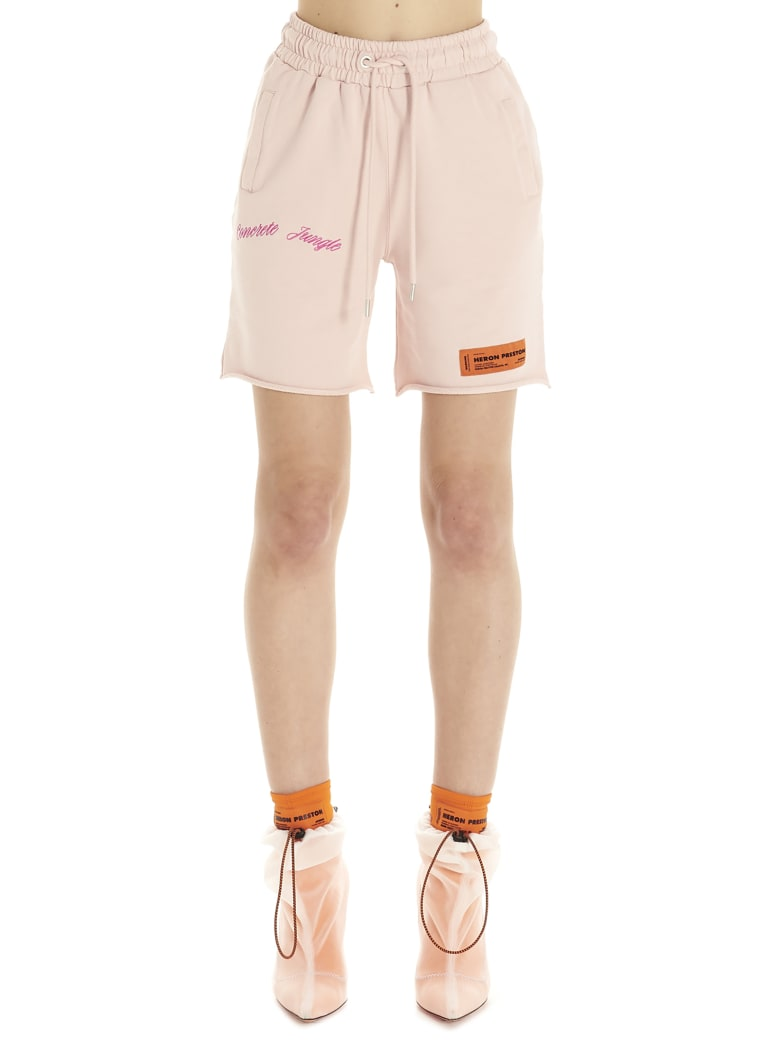 HERON PRESTON 'concrete Jungle' Bermuda - Pink