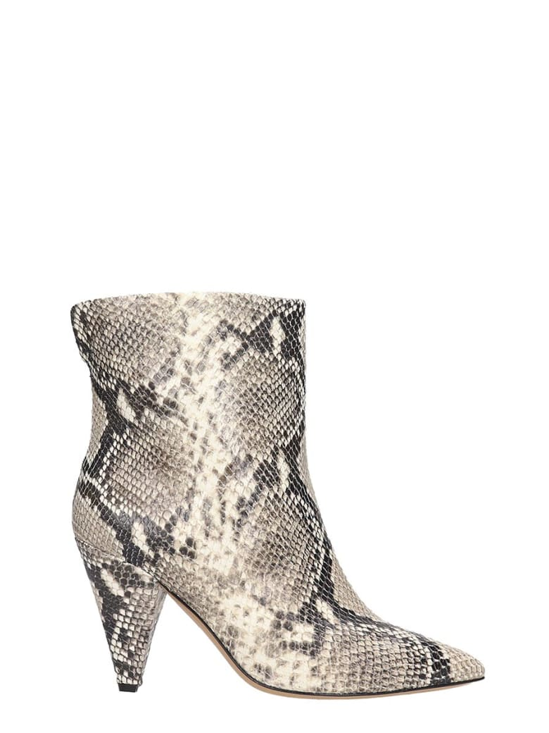 The Seller High Heels Ankle Boots In Animalier Leather - Animalier