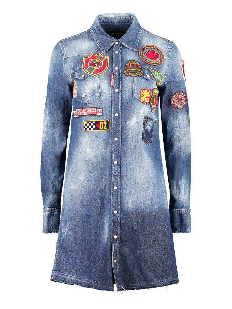Dsquared2 Denim Embellished Dress - Denim