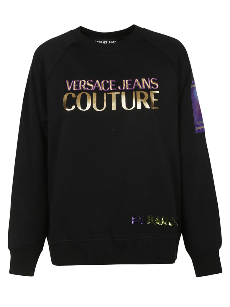 Best price on the market at italist   Versace Jeans Couture Versace Jeans Couture Logo Sweatshirt