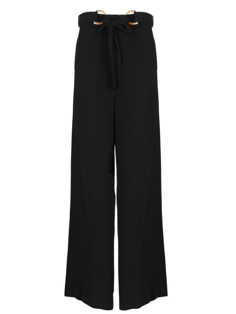 Zimmermann Crepe Belted Pant - Black