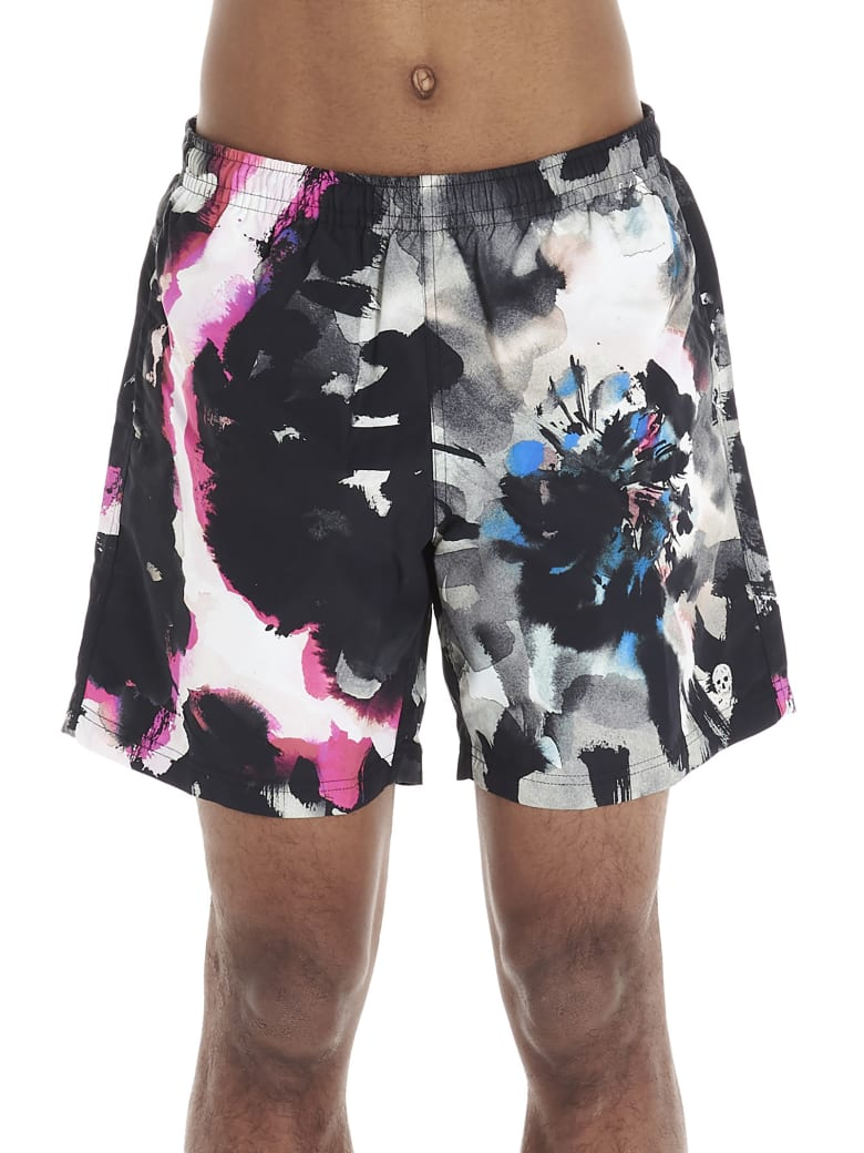 Alexander McQueen 'ink Flower' Swimsuit - Multicolor