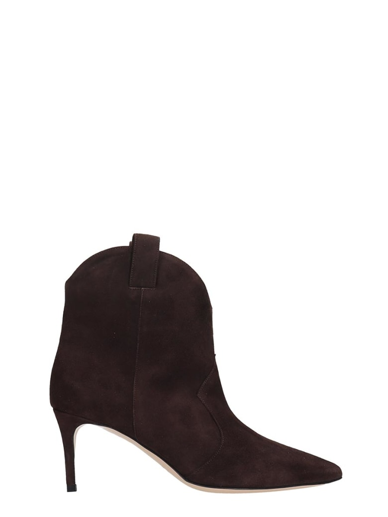 best sneakers 3da1d 86f60 Best price on the market at italist | Dei Mille Dei Mille Ankle Boots In  Brown Suede