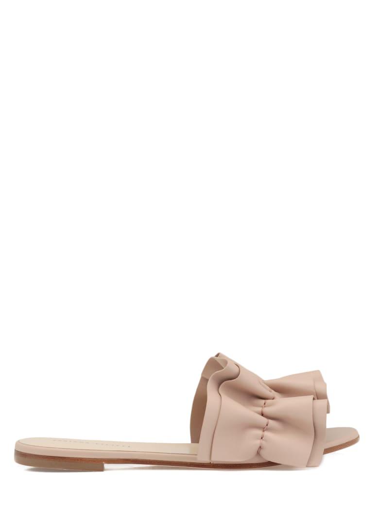 Fabiana Filippi Leather Flat Shoe - NATURAL