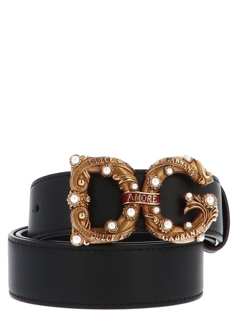 Dolce & Gabbana 'dg Amore' Belt - Black