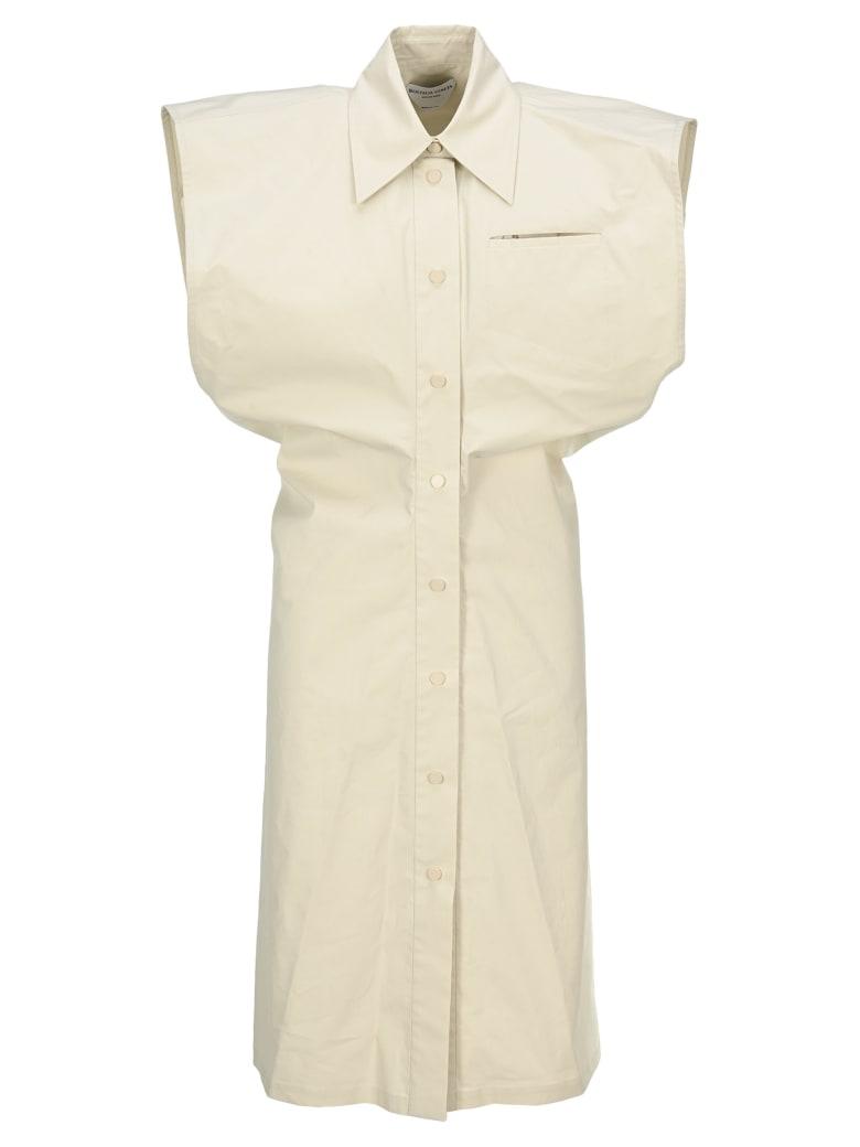Bottega Veneta Technical Toile Shirt Dress - SNOW WHITE