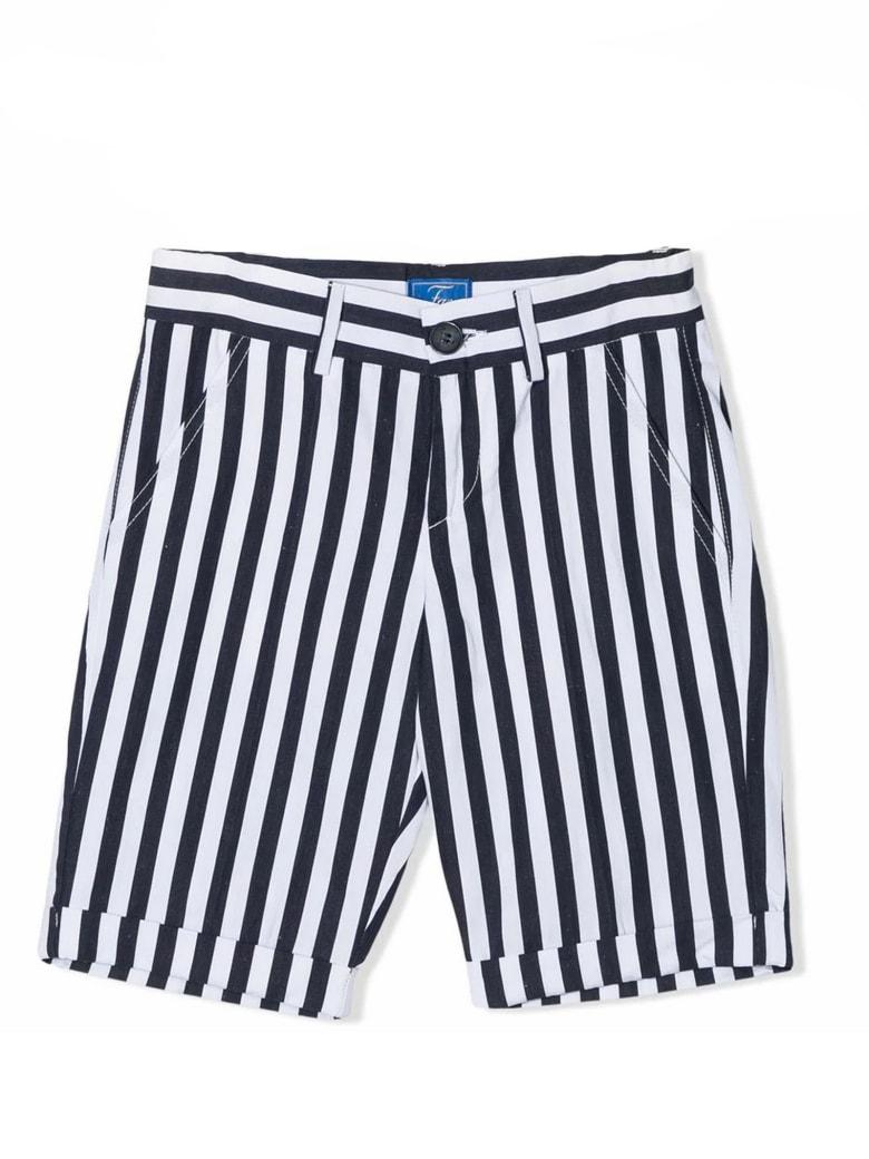 Fay Navy Blue Cotton-linen Blend Shorts - Rigato