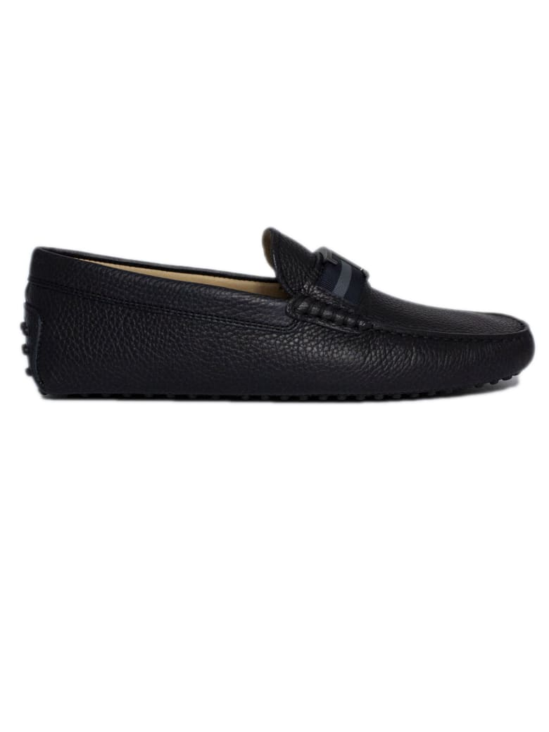 Tod's City Gommino Navy Leather - Blu