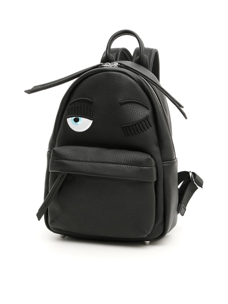 Chiara Ferragni Small Flirting Backpack - BLACK (Black)