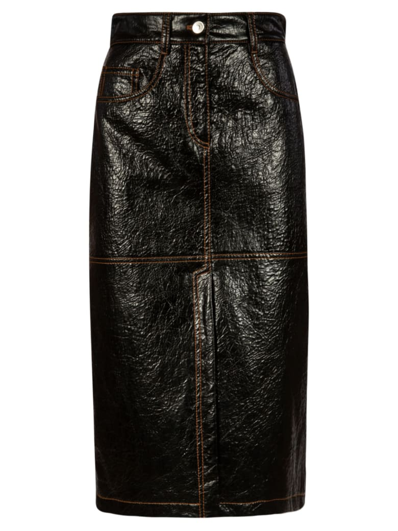 MSGM Buttoned Mid-length Skirt - Black