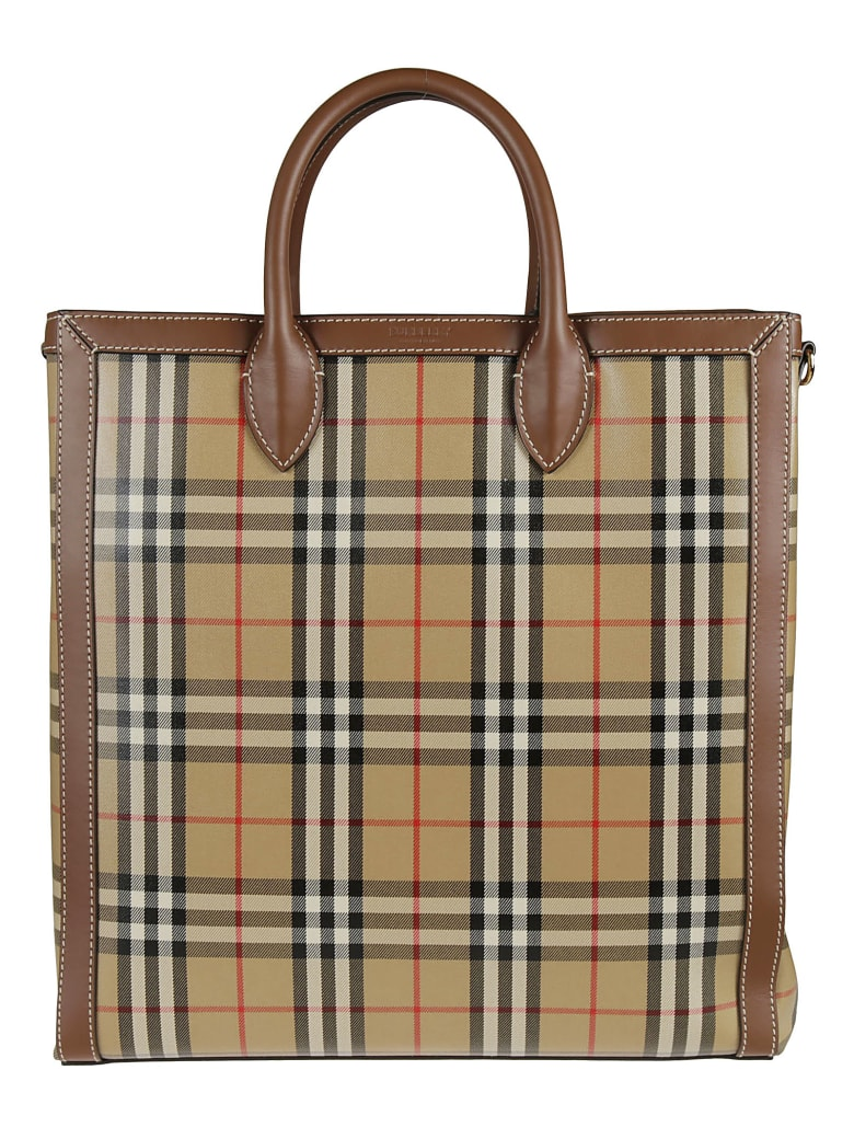 Burberry Kane Shopper Bag - Archive Beige Check