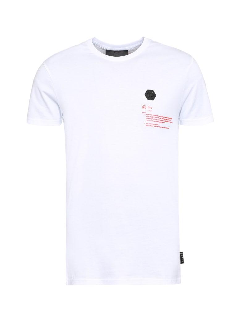 Philipp Plein Printed Cotton T-shirt - White