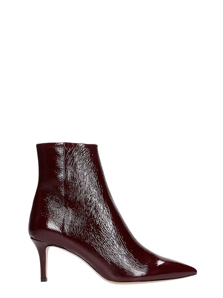 Fabio Rusconi High Heels Ankle Boots In Bordeaux Patent Leather - bordeaux