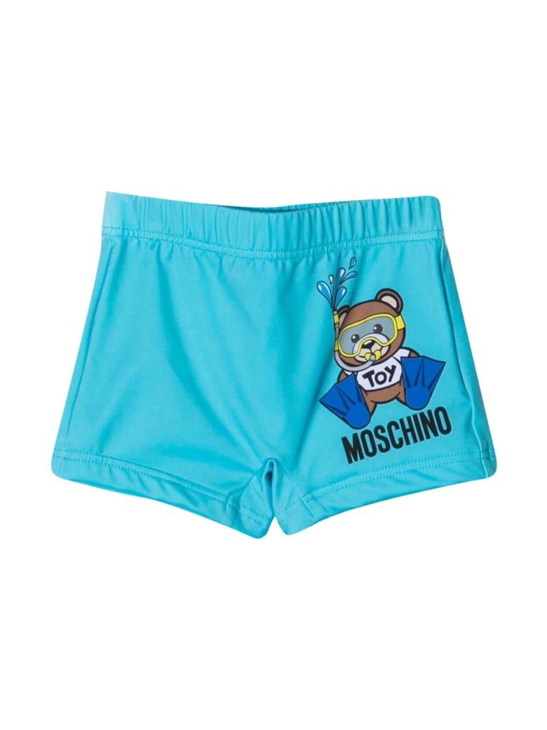 Moschino Light Blue Swimsuit - Blu
