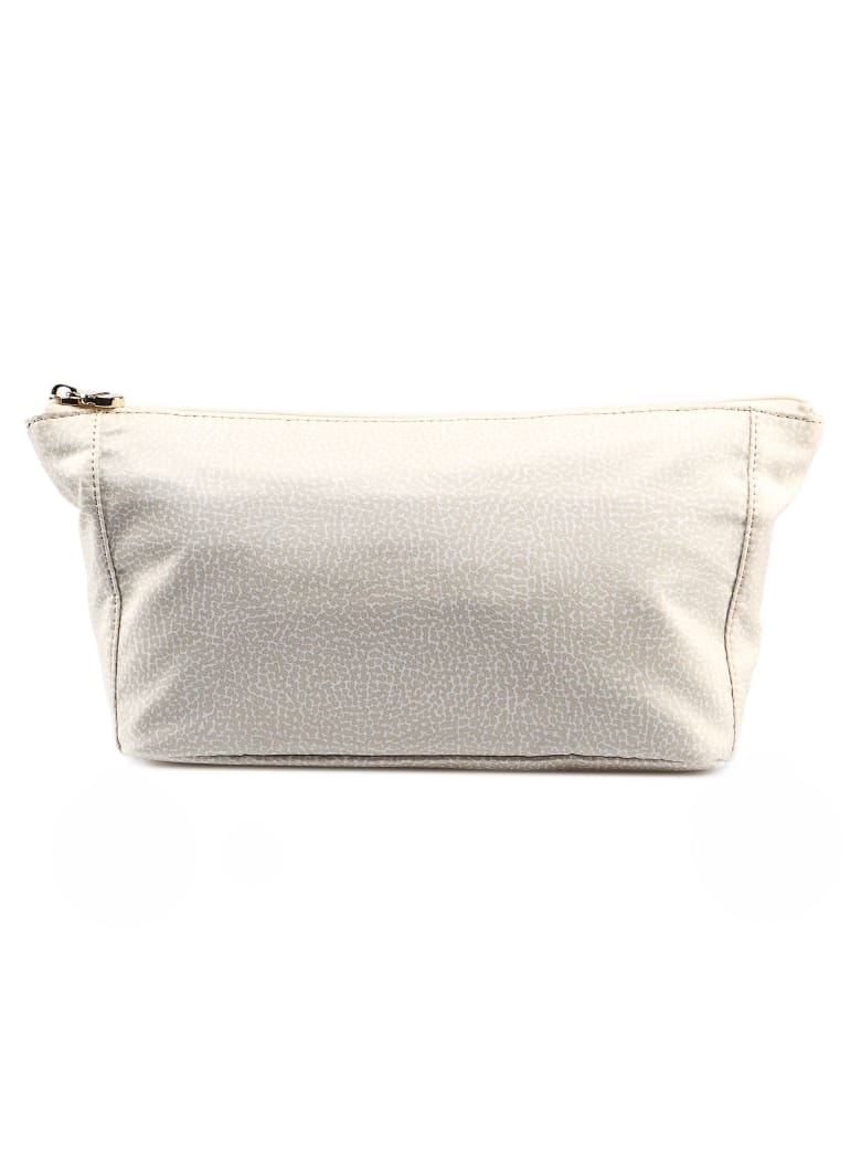 Borbonese Printed Pouch - Cream