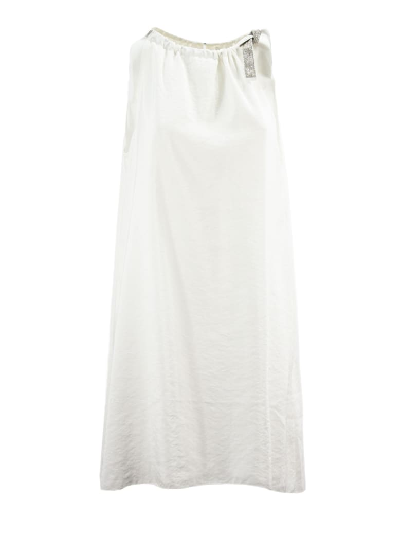 Fabiana Filippi White Silk Blend Dress - Bianco