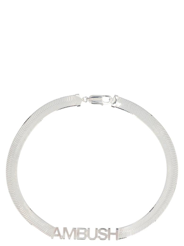 AMBUSH 'herringbone Logo' Necklace - Silver