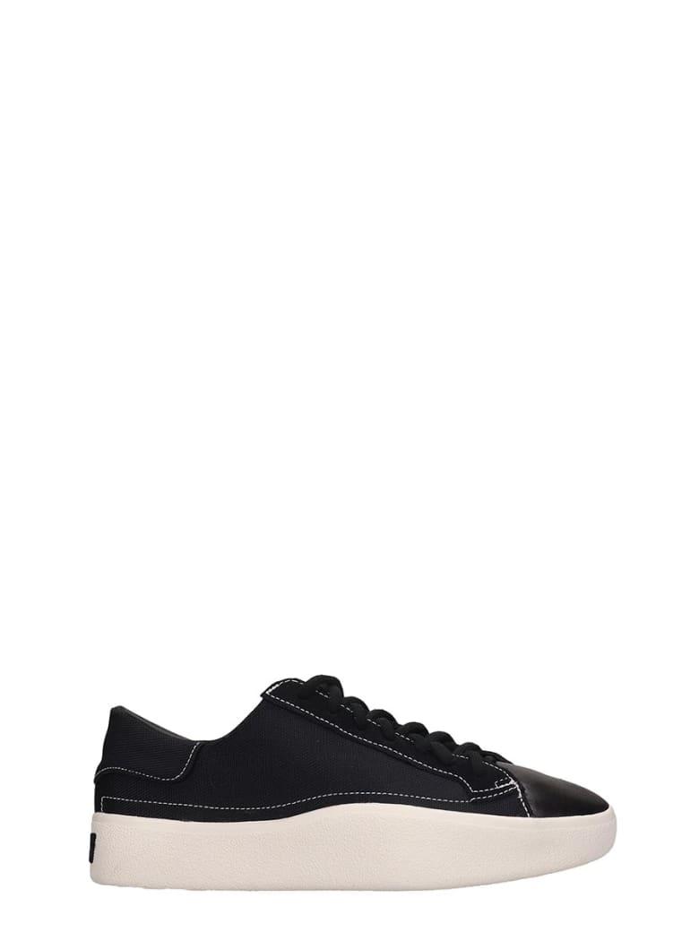 Y-3 Black Canvas Tangustu Sneakers - black