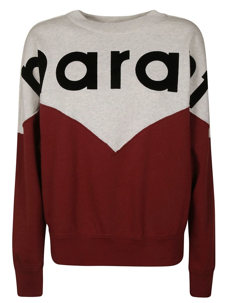 Isabel Marant Houston Sweatshirt - Burgundy/Grey