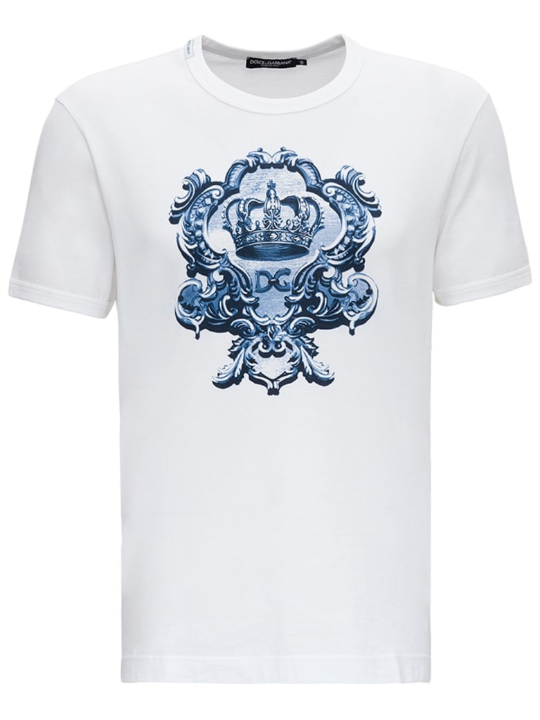 Dolce & Gabbana Jersey T-shirt With Print - White