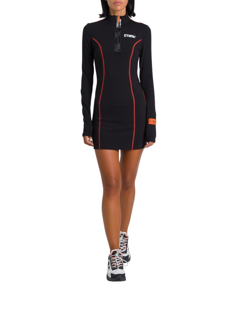 HERON PRESTON Ctnmb Active Short Dress - Nero