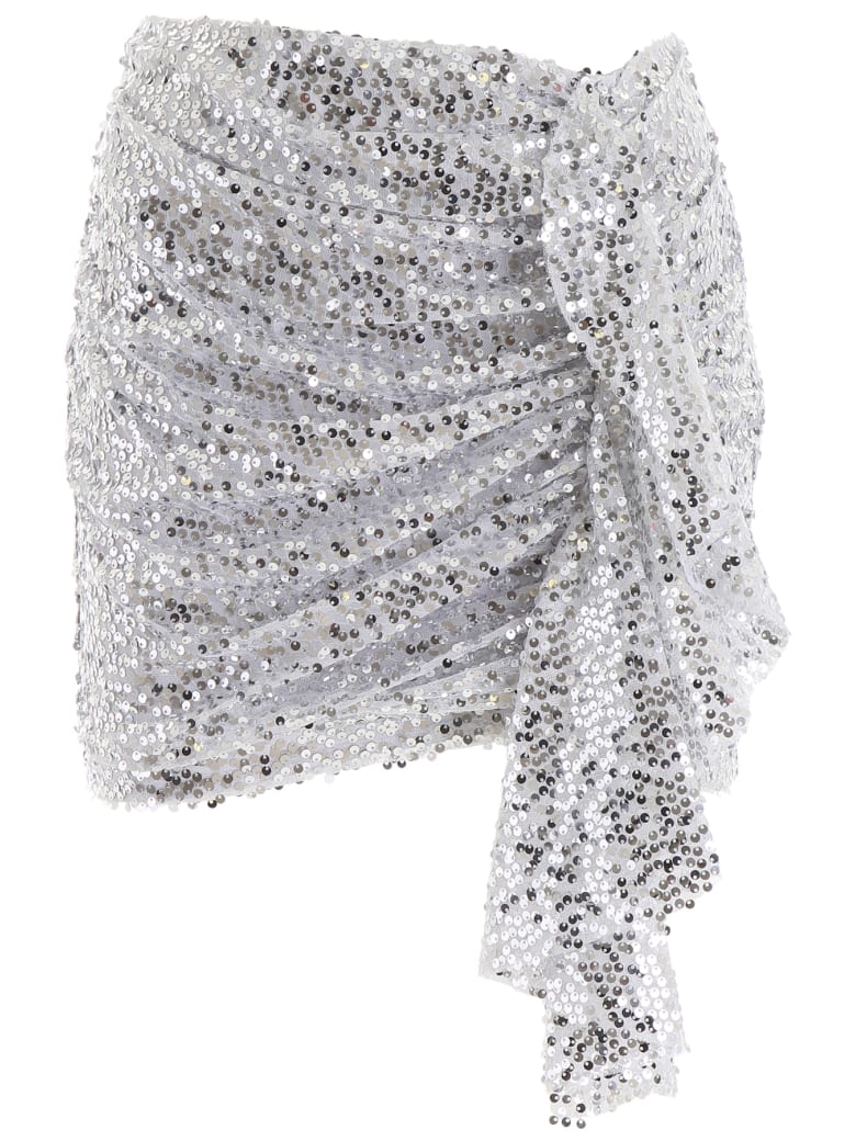 In The Mood For Love Emely Mini Skirt - SILVER (Silver)