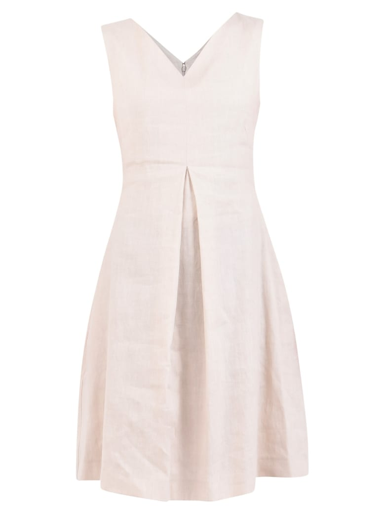 Fabiana Filippi V-neck Dress - Beige