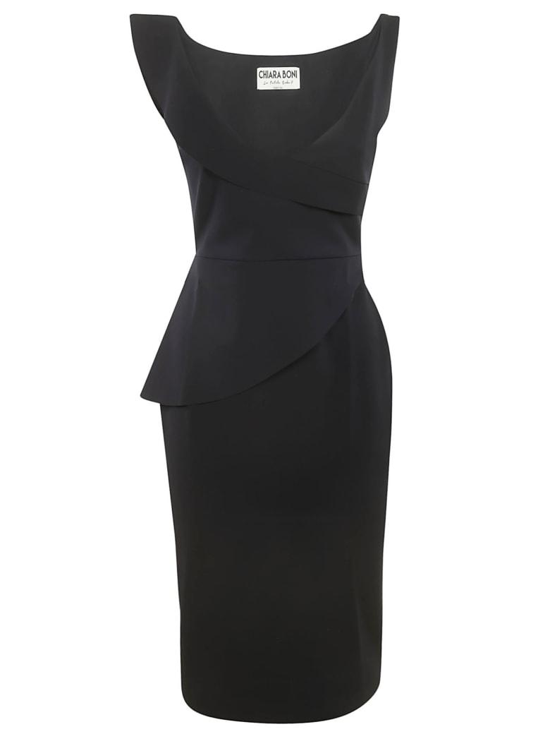 La Petit Robe Di Chiara Boni Sleeveless V-neck Dress - Black
