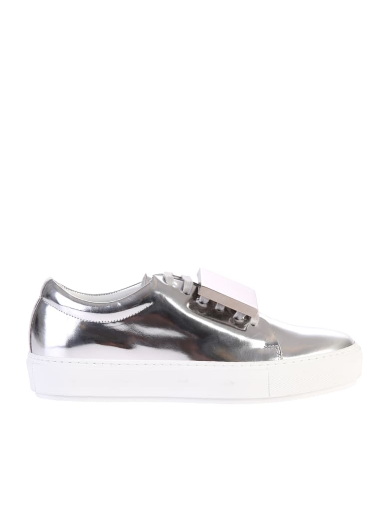 Acne Studios Metallic Adriana Turnup Sneakers - Metallic