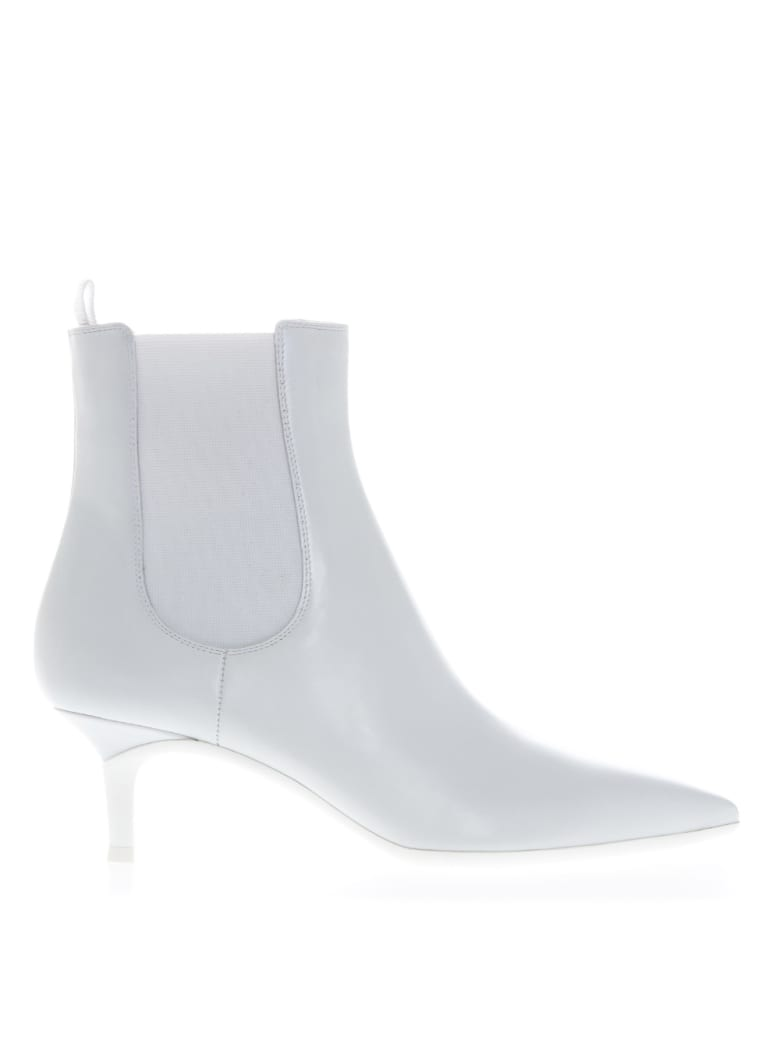 Gianvito Rossi Ankle Boots In White Leather - White