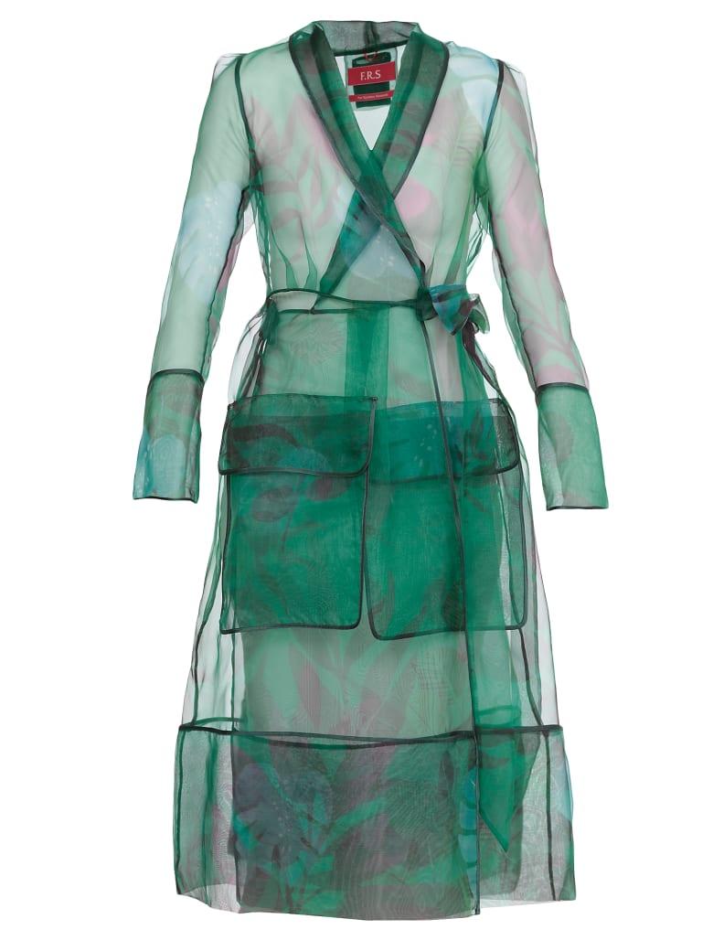 For Restless Sleepers Printed Overcoat - f.do verde