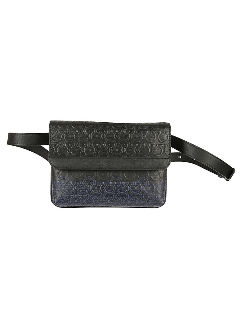 Salvatore Ferragamo Flap Travel Shoulder Bag - Black
