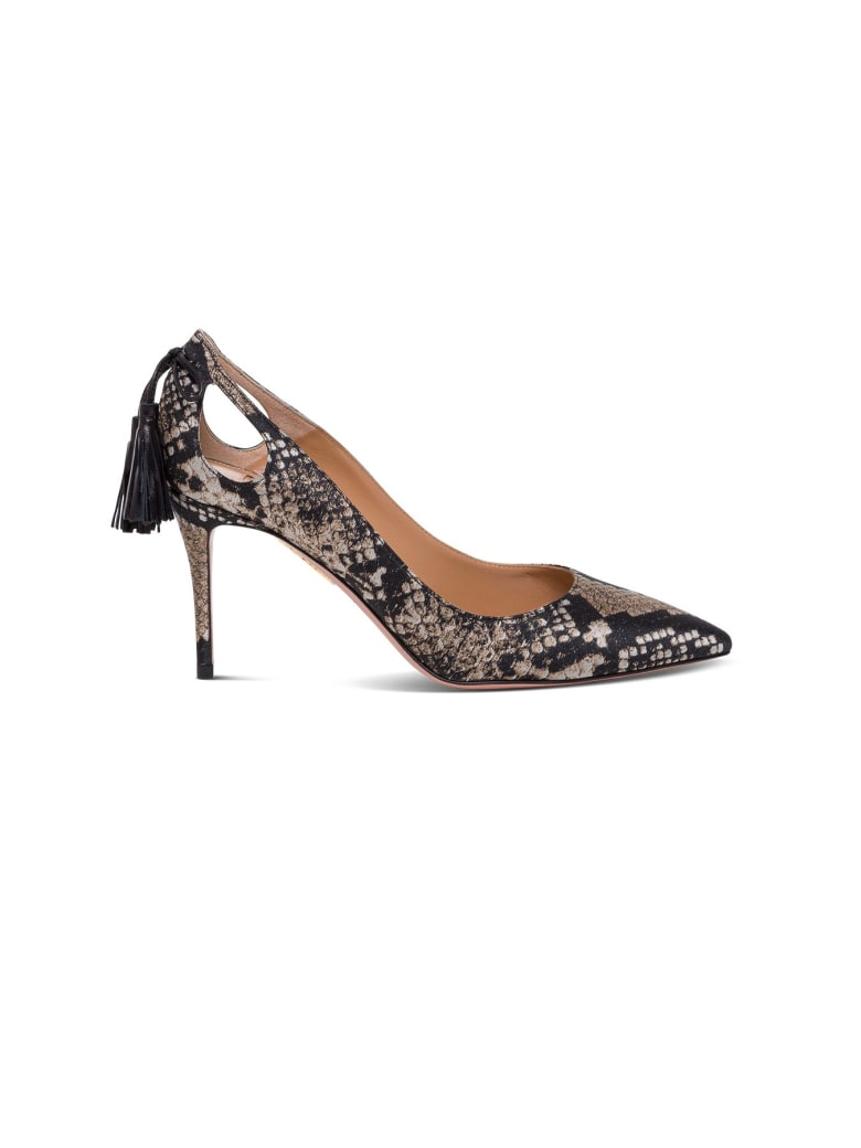 Aquazzura Forever Marilyn Python Print Leather Pumps - Multicolor
