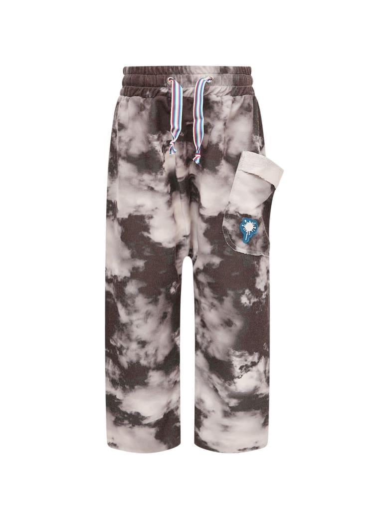 Goganga Black Pants With Grey Clouds - Grey