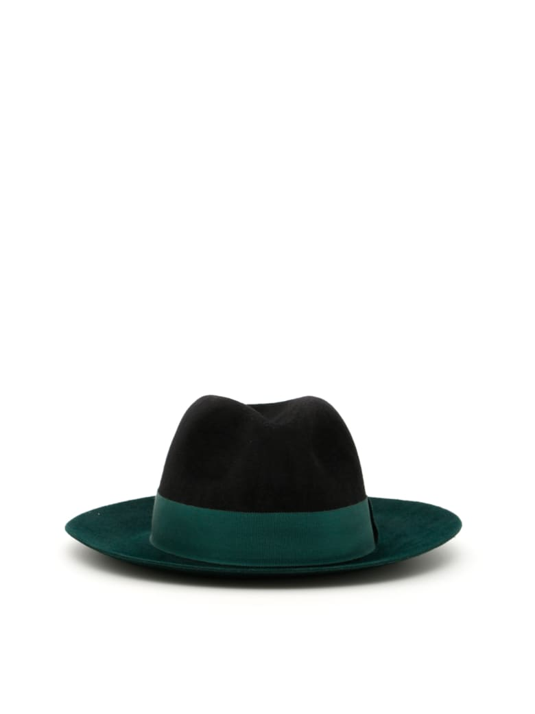 Ruslan Baginskiy Felt Hat - GREEN/BLACK (Green)