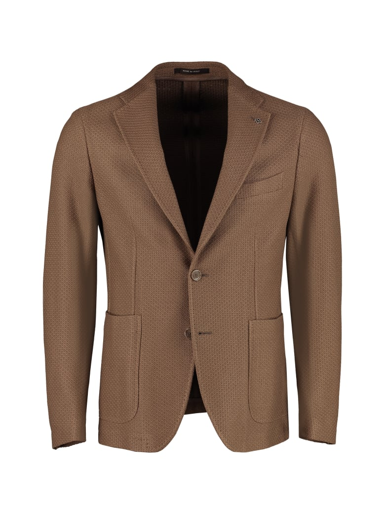 Tagliatore Single-breasted Two-button Blazer - mud