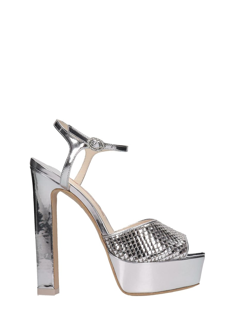 Sophia Webster Natalia Sandals In Silver Leather - silver