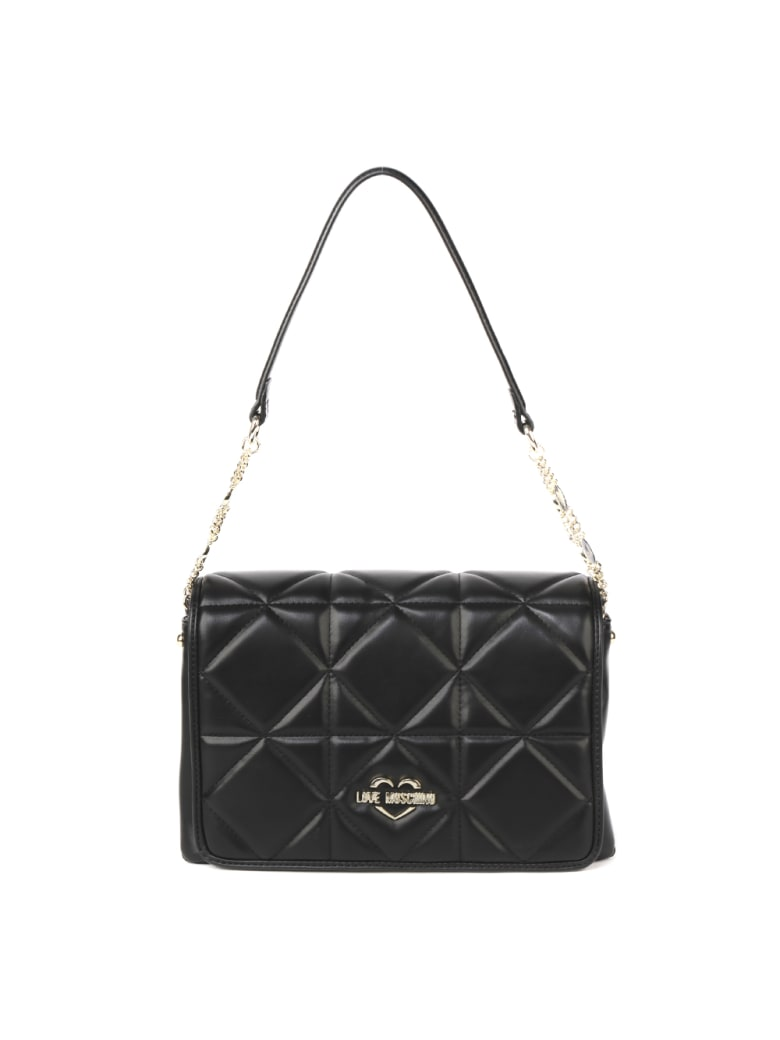 Love Moschino Black Quilted Ecoleather Bag - Black