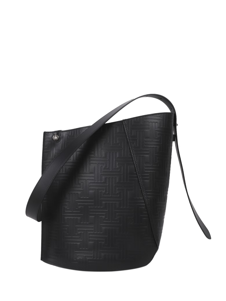 Lanvin Black Hook Bucket Bag M - Black