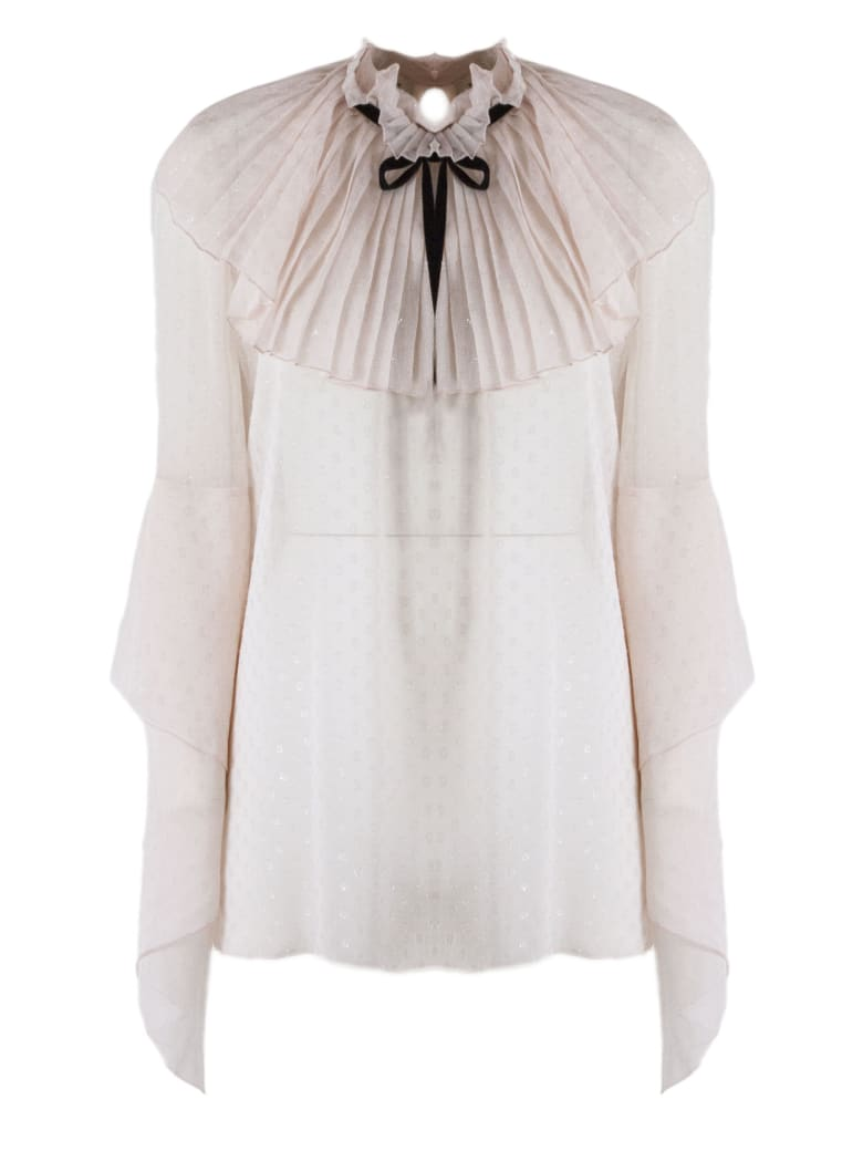 Philosophy di Lorenzo Serafini Light Pink Fil Coupé Blouse - Rosa
