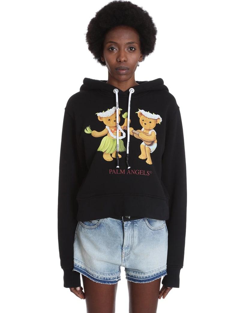Palm Angels Sweatshirt In Black Cotton - black
